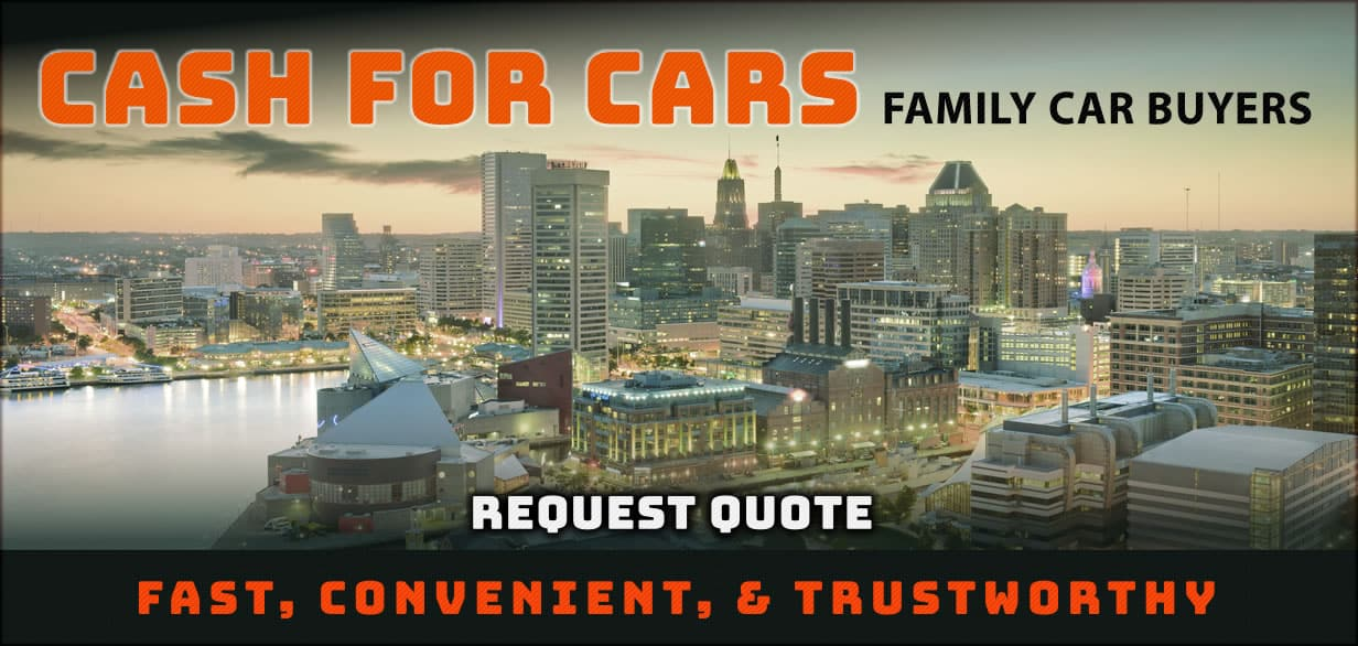 Cash for cars baltimore city skyline - request a quote