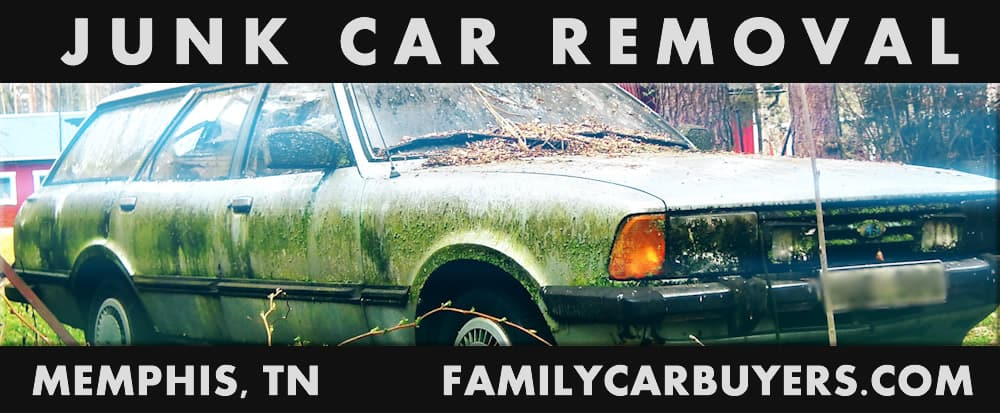 Old damaged car - Junk Car Removal Memphis, TN