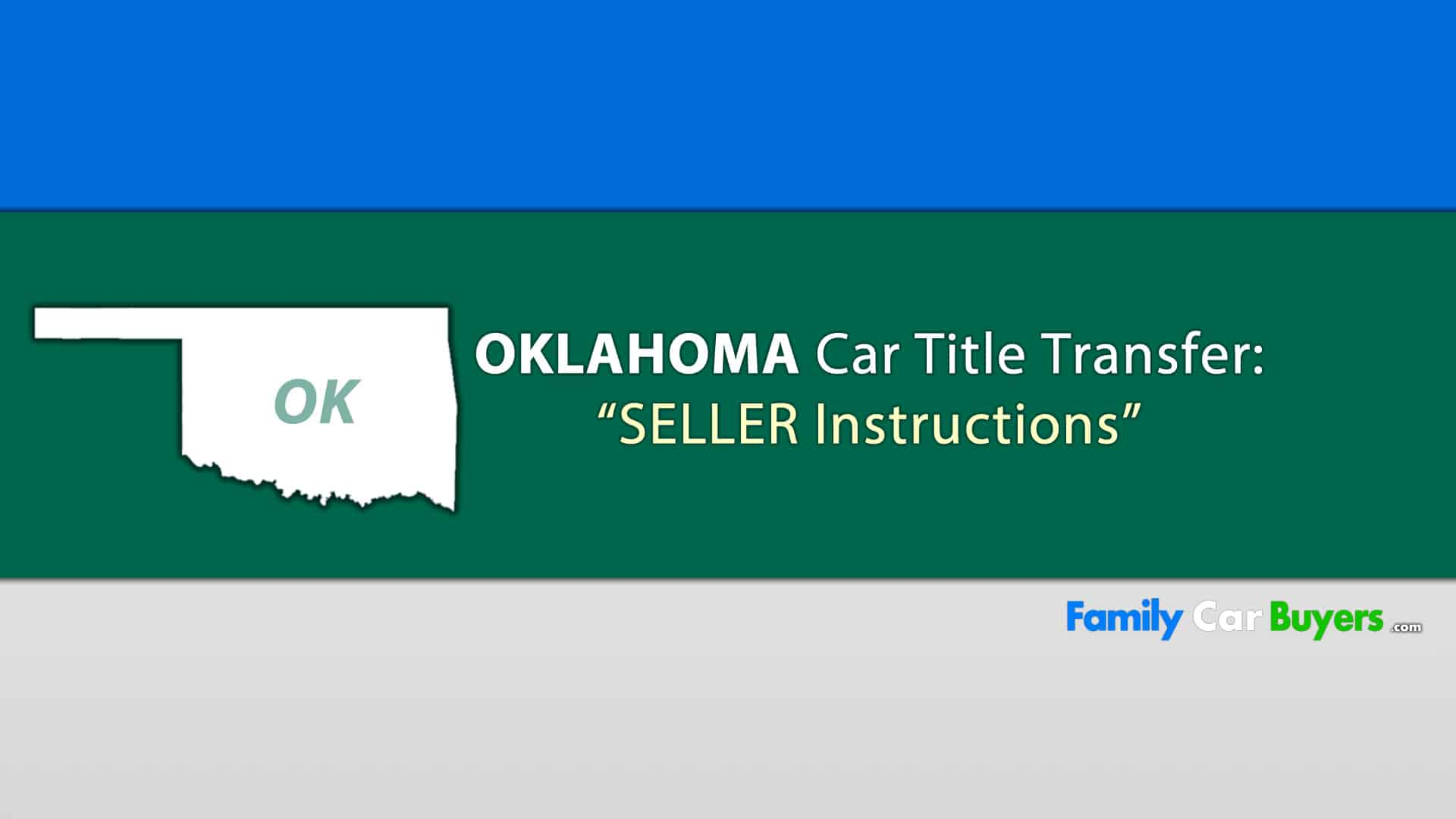 Sell My Car Oklahoma Title Transfer